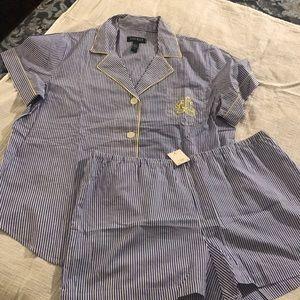 NWT Ralph Lauren Pajama Short Set size XL